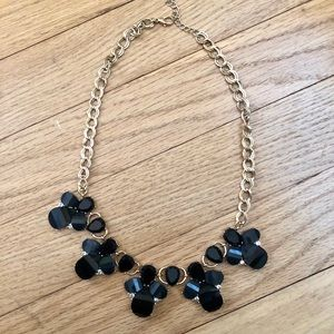 Francescas Gold, Gray and Black Statement Necklace